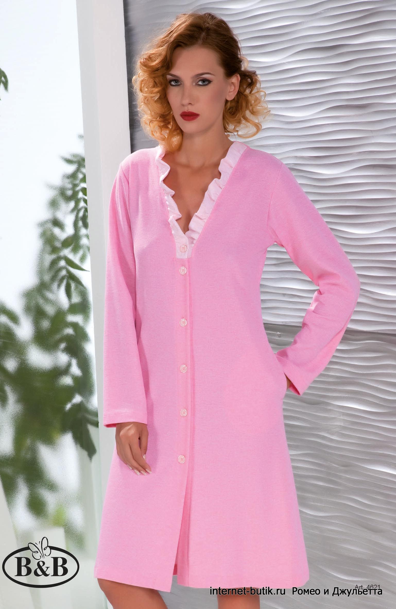 1efbbdf316f9 Женский домашний халат B&B 4621 - купить в интернет-магазине